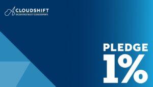 pledge 1percent -cloudshift